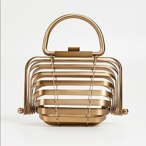 Cult Gaia Lilleth Brass Clutch